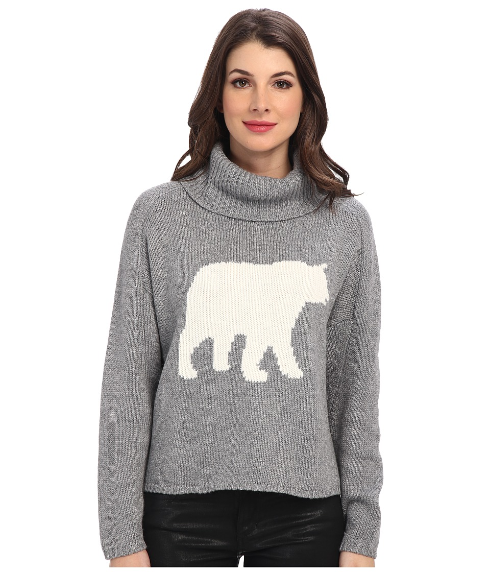 Townsen - Bear L/S Sweater (Heather Grey) Women's Sweater