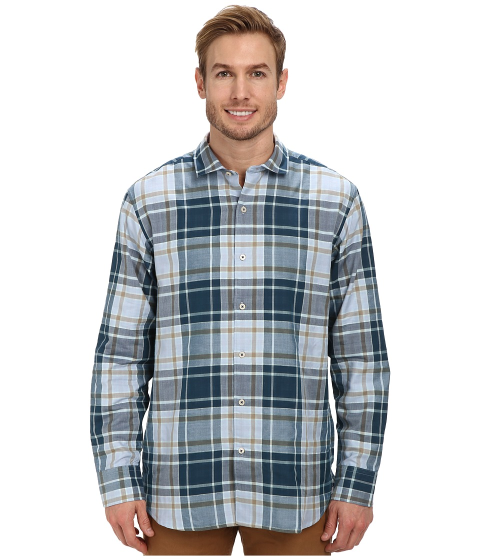 Tommy Bahama - Double Grande L/S Button Up (Navy) Men