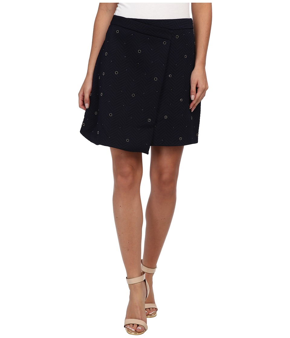 Vince Camuto - Embelished Wrap Skirt (Navy Stone) Women