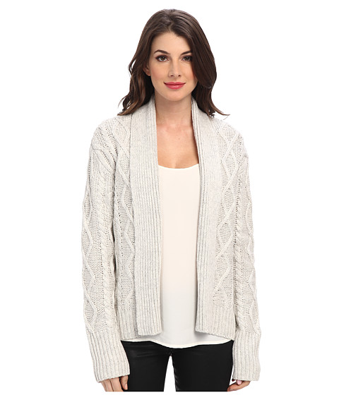 Townsen - Fleetwood L/S Cardigan (Light Heather Grey) Women's Sweater