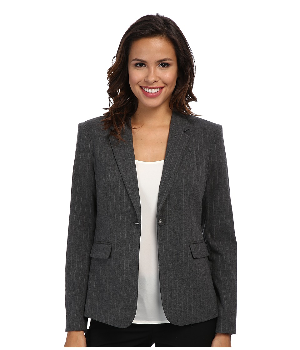Vince Camuto - One Button Blazer (Med Hunter Grey) Women