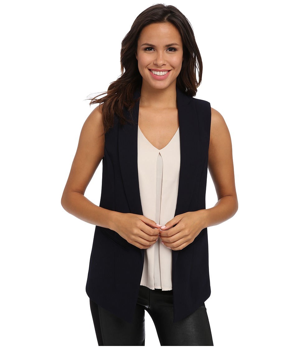 Vince Camuto - One Button Vest (Navy Stone) Women's Jacket