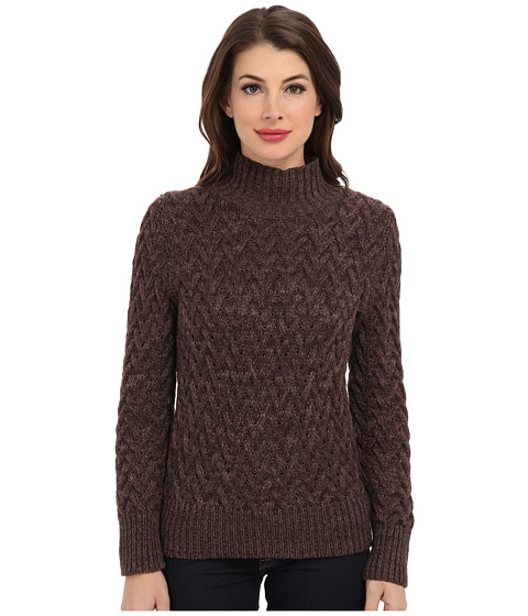 Vince Camuto - L/S Turtle Neck All Over Cable Sweater (Taupe Heather) Women
