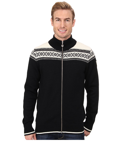 Dale of Norway - Hemsedal Masculine Jacket (F-Black/Off White) Men's Sweater