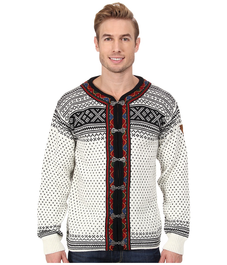 Dale of Norway - Setesdal Unisex Jacket (A-Off White/Black) Men's Sweater