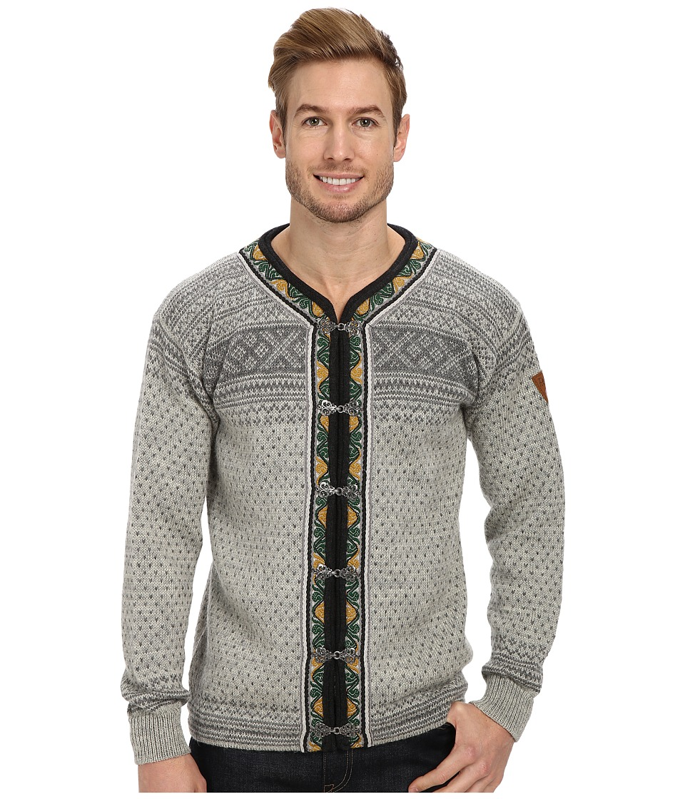 Dale of Norway - Setesdal Unisex Jacket (E-Smoke/Light Charcoal) Men's Sweater