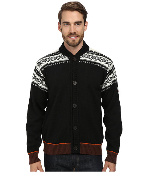 Dale of Norway - Cortina Bomber Jacket (F-Black/Off White/Sunset/Bitter Chocolate) Men's Jacket
