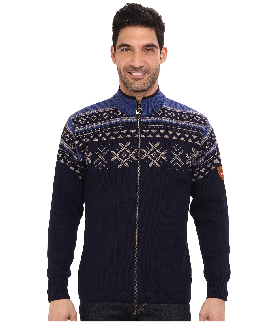 Dale of Norway - Dovre Jacket (H-Navy/Mountainstone/Indigo) Men's Sweater