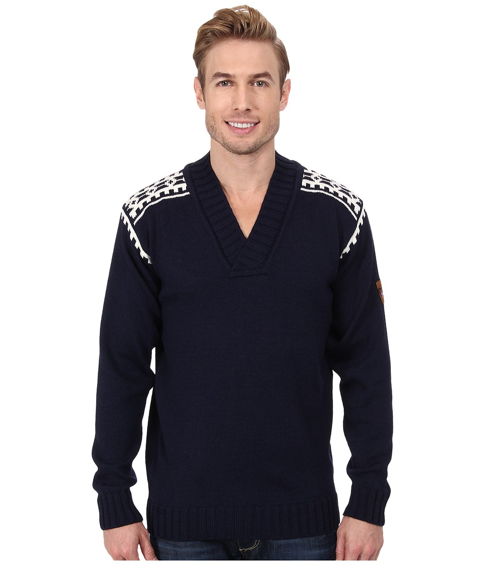 Dale of Norway - Alpina Masculine Sweater (C-Navy/Cream) Men's Long Sleeve Pullover