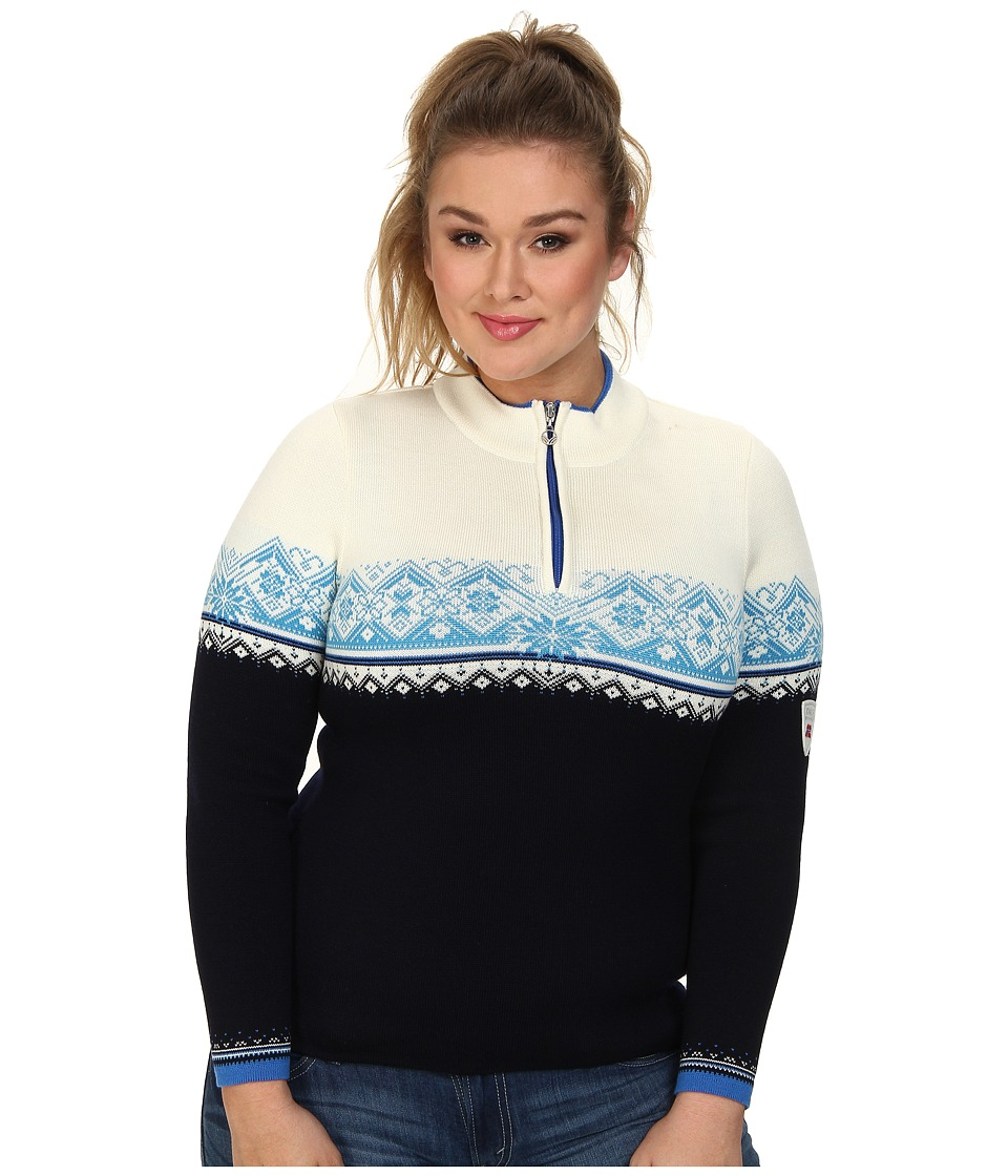 Dale of Norway - St. Moritz Feminine (Marine/Cobalt/Off White/Sochi Blue) Women's Sweater