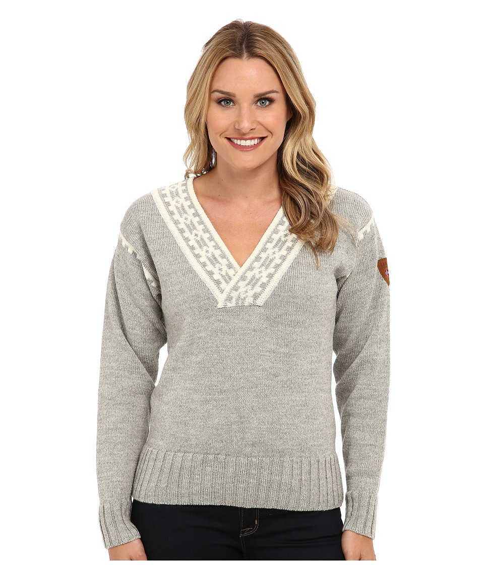 Dale of Norway - Alpina Feminine Sweater (Light Charcoal/Cream) Women's Sweater