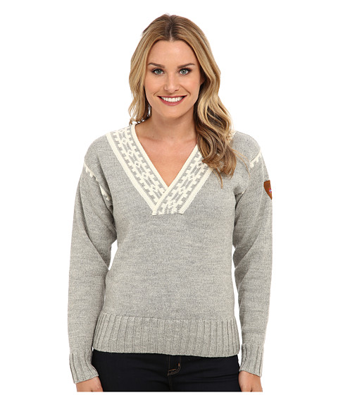 Dale of Norway - Alpina Feminine Sweater (Light Charcoal/Cream) Women