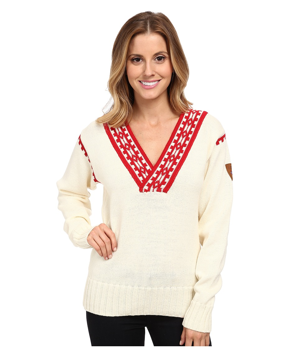 Dale of Norway - Alpina Feminine Sweater (Cream/Raspberry) Women's Sweater