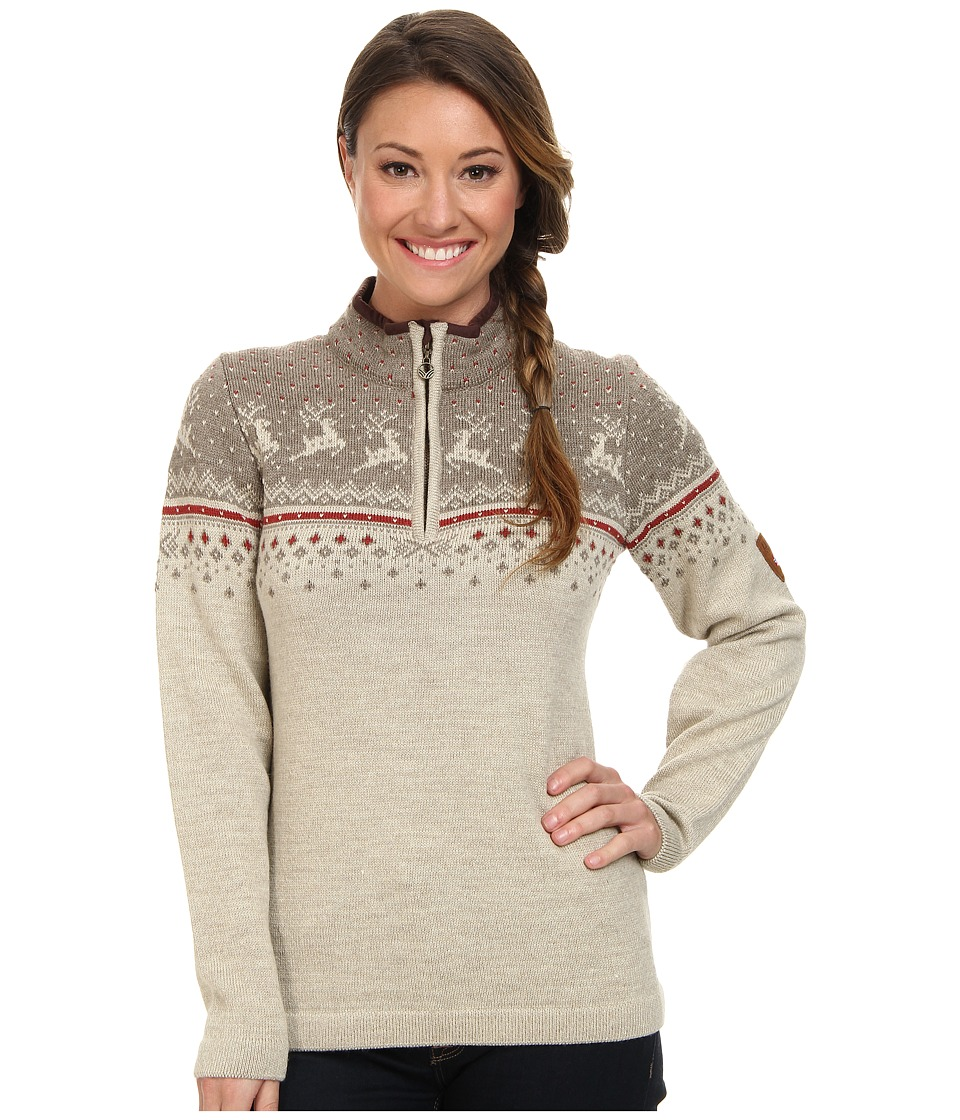 Dale of Norway - Tuva (Mountainstone/Sand/Wein) Women's Sweater