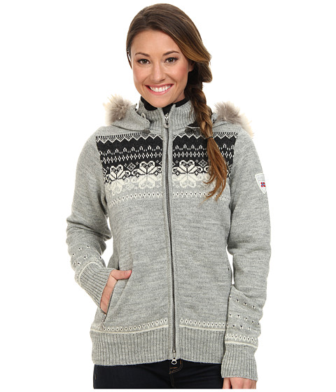 Dale of Norway - Fl yen Feminine (Light Charcoal/Off White/Purple/Dark Charcoal) Women's Sweater