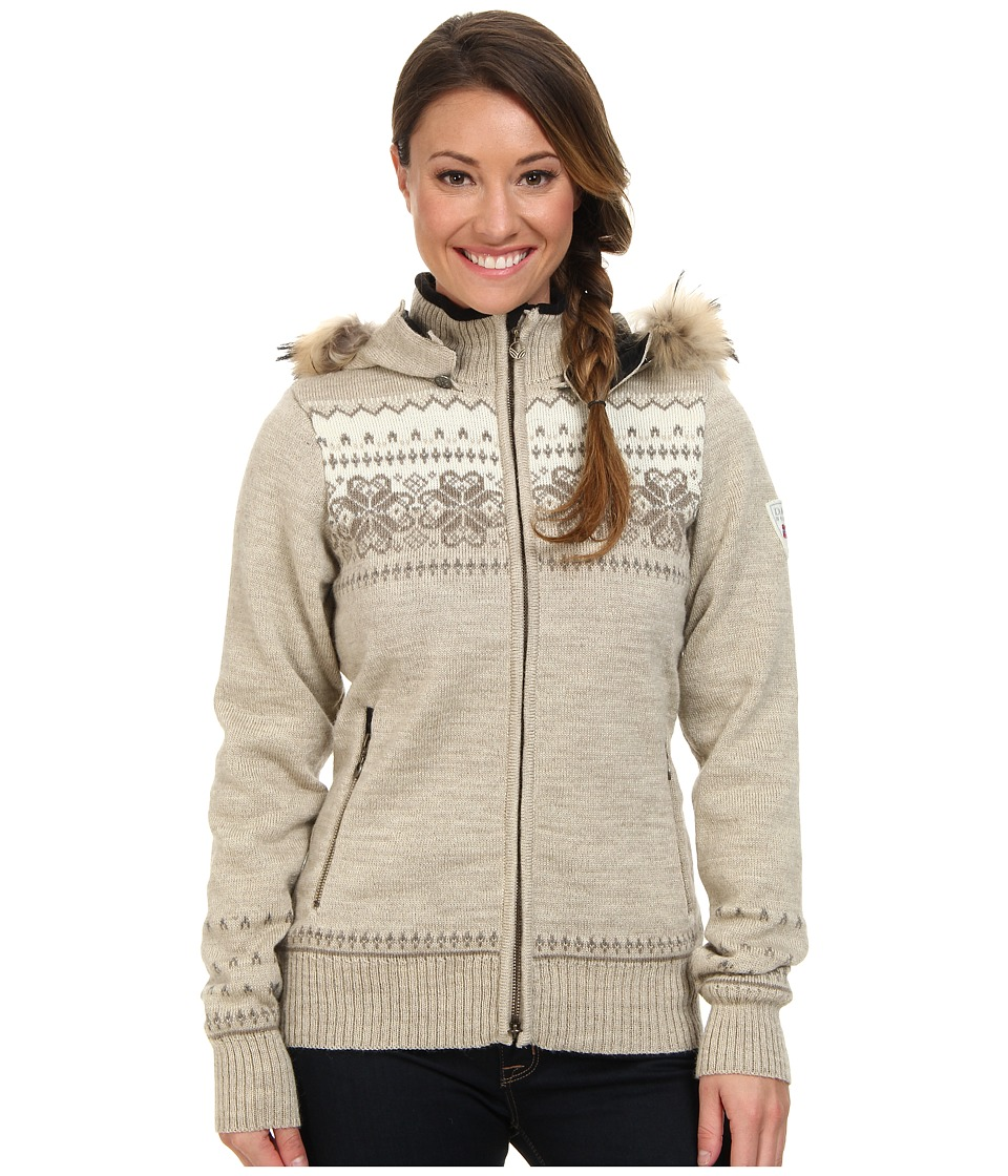 Dale of Norway - Fl yen Feminine (Mountainstone/Sand/Firewood/Off White) Women's Sweater