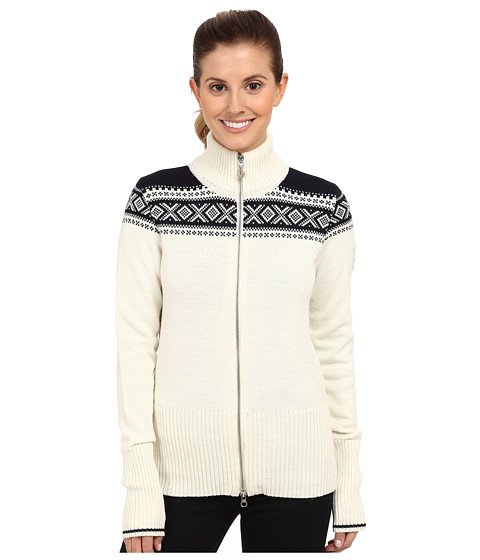 Dale of Norway - Hemsedal Feminine Jacket (Off White/Navy) Women's Sweater