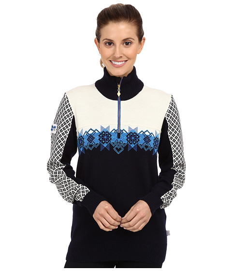 Dale of Norway - Fjell Feminine (Cobalt/Off White/Navy/Sochi Blue) Women's Sweater