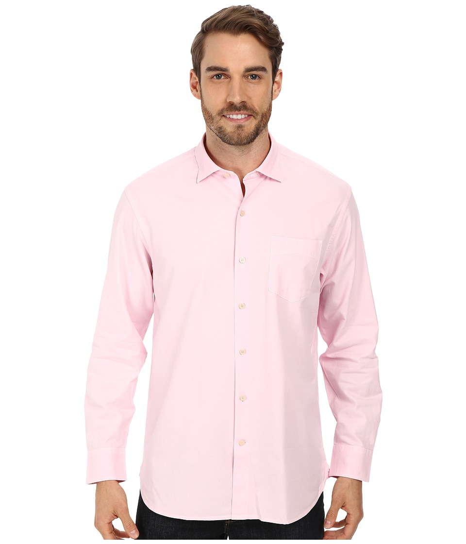 Tommy Bahama - Island Twill L/S Button Up (Cyber Light) Men's Long Sleeve Button Up