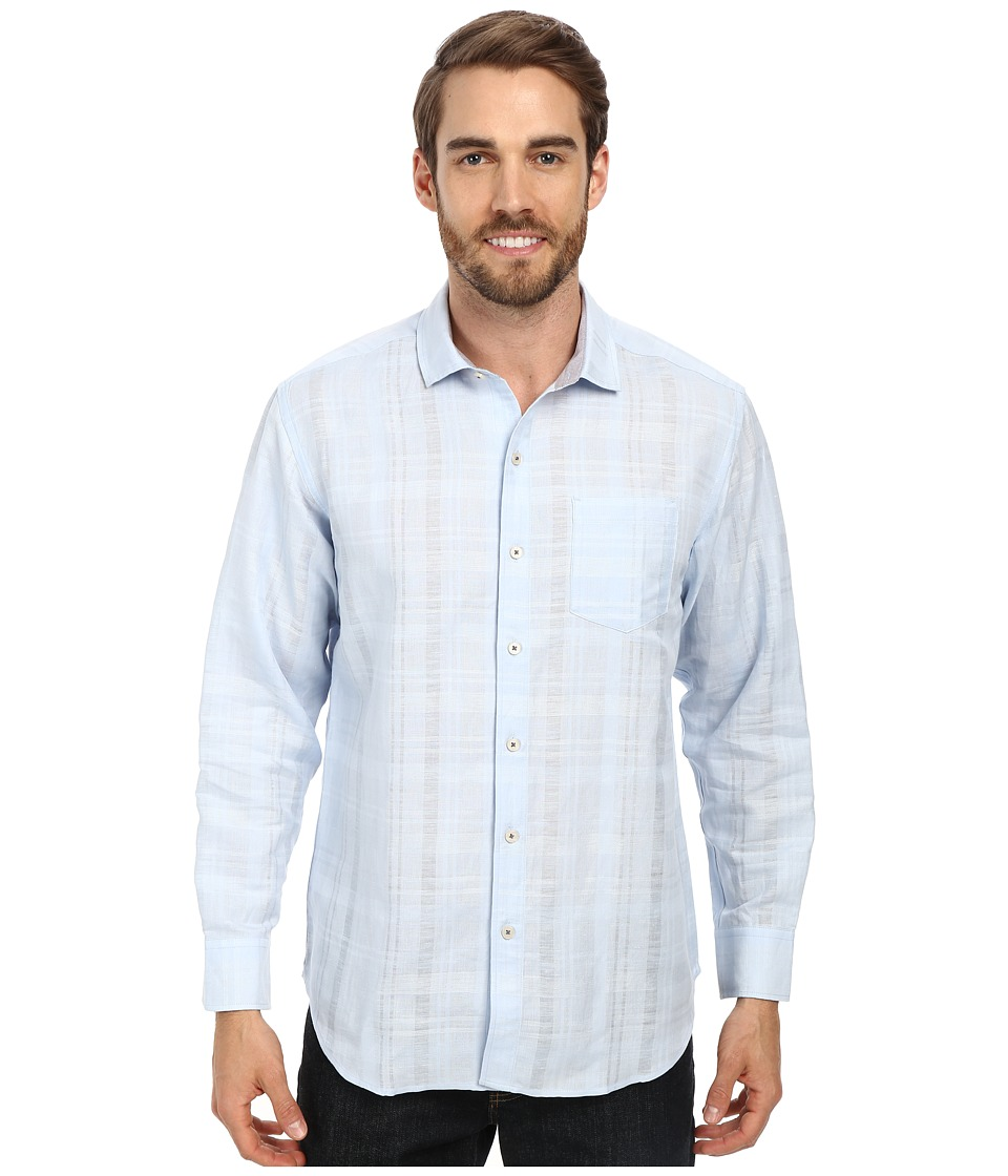 Tommy Bahama - Squarely There L/S Button Up (Key West Blue) Men's Long Sleeve Button Up