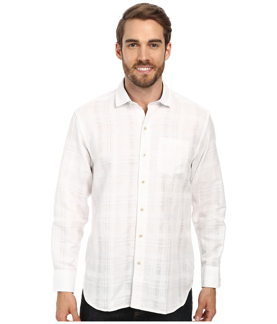 Tommy Bahama - Squarely There L/S Button Up (Continental) Men's Long Sleeve Button Up