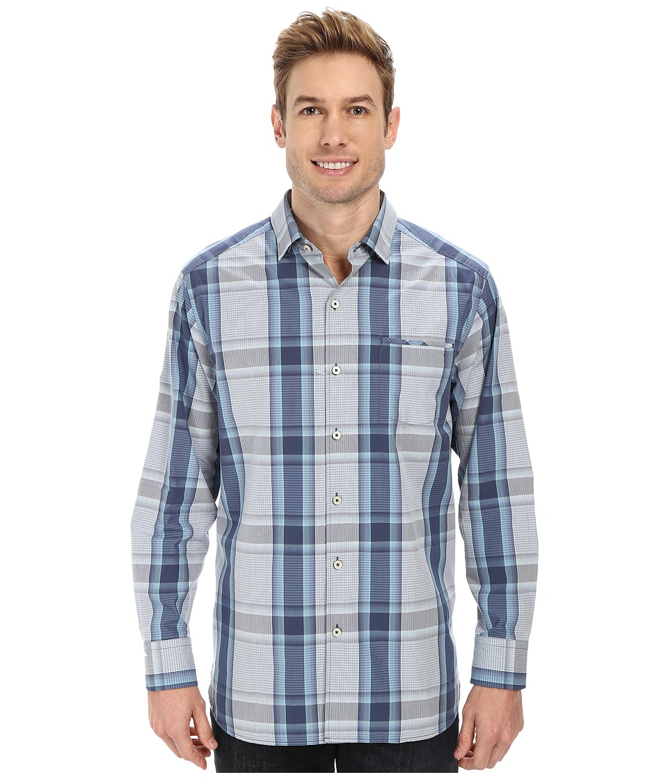 Tommy Bahama - Plaid-Tonic Shirt (Key West Blue) Men's Long Sleeve Button Up