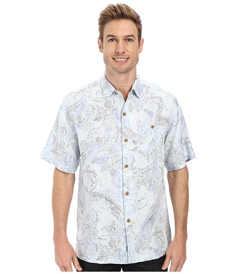 Tommy Bahama - Moves Like Paisley Camp Shirt (Chambray 2) Men's Short Sleeve Button Up