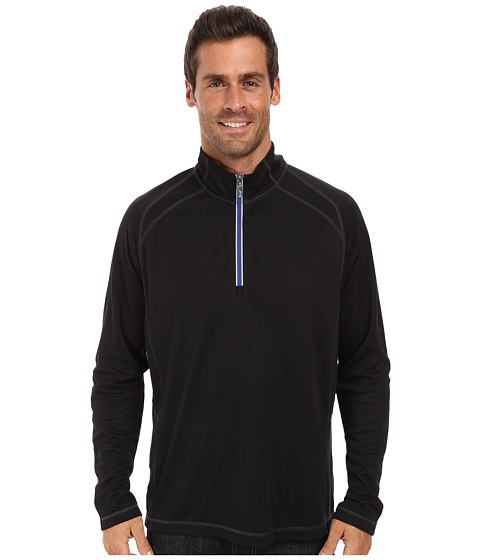 Tommy Bahama - New Firewall Half Zip Sweatshirt (Black) Men