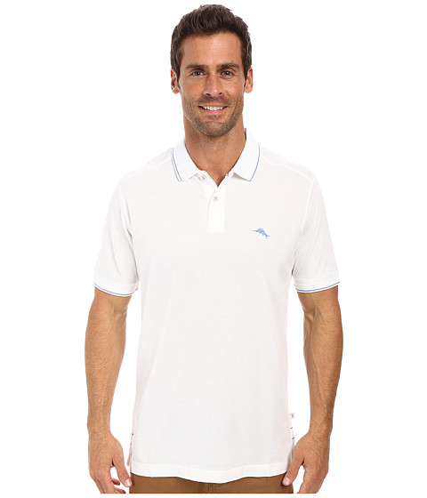 Tommy Bahama - Island Modern Fit Island Lite Polo (White) Men's Short Sleeve Pullover