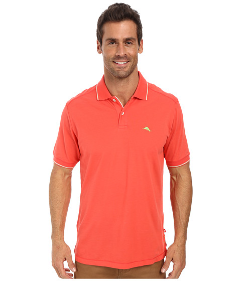 Tommy Bahama - Island Modern Fit Island Lite Polo (Bright Coral) Men
