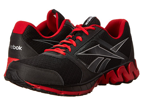 Reebok - ZigKick Alpha (Black/Pure Silver/Excellent Red/White) Men's Shoes