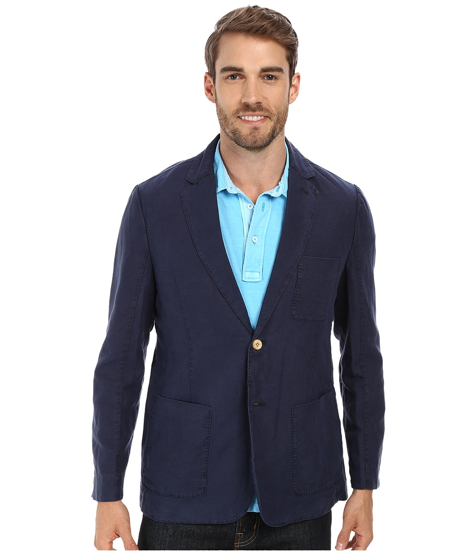 Tommy Bahama - Milano Lino Blazer (Ocean Deep) Men's Jacket