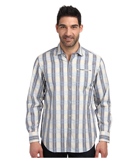 Tommy Bahama - Island Weaver L/S Button Up (Chambray 2) Men's Long Sleeve Button Up