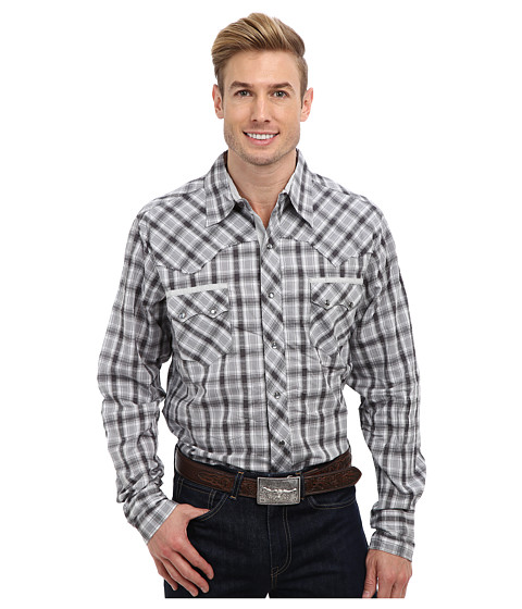 Roper - 9193 Charcoal White Dobby Shirt (Grey) Men's Long Sleeve Button Up