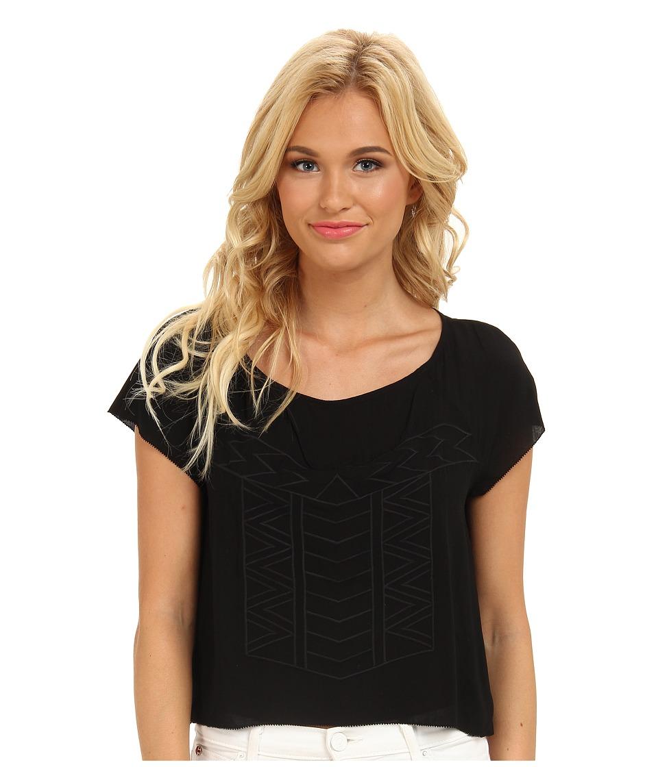 BB Dakota - Addison Woven Top (Black) Women's Clothing