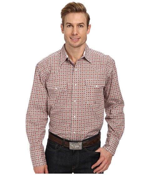Roper - 9177 200 Foulard Shirt (Orange) Men's Clothing