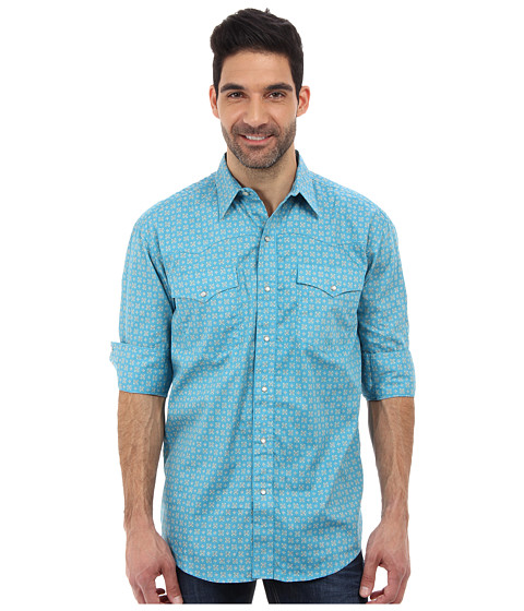 Roper - 9178 Teal Foulard Shirt (Green) Men's Long Sleeve Button Up