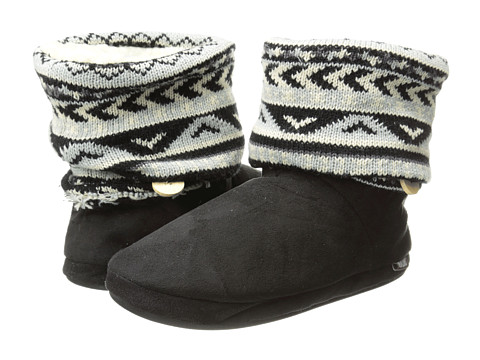 MUK LUKS - Legwarmer Scrunch Boot (Aztec Fair Isle Light Grey) Women's Boots