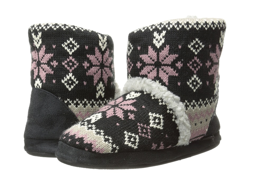 MUK LUKS - Sherpa Boot (Lodge Fair Isle Ebony) Women's Boots