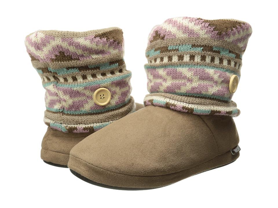 MUK LUKS Legwarmer Scrunch Boot (Fuzzy Fair Isle Vanilla) Women
