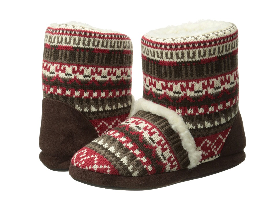 MUK LUKS - Sherpa Boot (Crazy Fair Isle Candy Apple) Women's Boots
