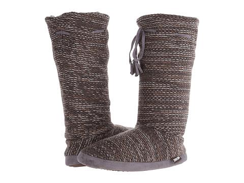 MUK LUKS - Tall Grommet Tie Boot (Dark Grey) Women's Boots