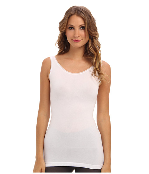 Yummie by Heather Thomson - Helena 2-Way Long Tank (White) Women's Sleeveless