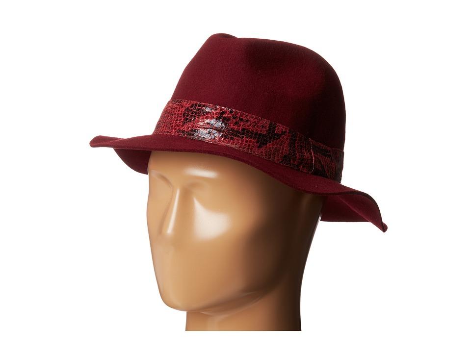 Jessica Simpson - Snake Banded Panama (Rhubarb) Traditional Hats