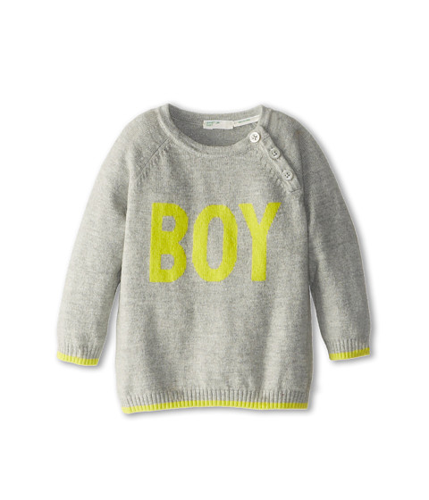 United Colors of Benetton Kids - Sweater L/S 10F4C124N (Infant) (Light Grey) Boy
