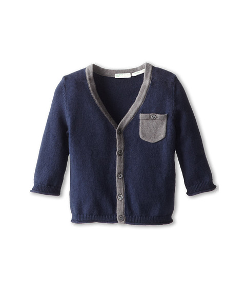United Colors of Benetton Kids - L/S Cardigan 12CRC614N (Infant) (13C Navy Blue) Boy