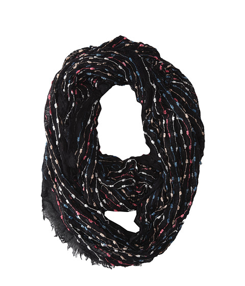 Jessica Simpson - Guaze Pop Yarn Loop (Black Bright) Scarves