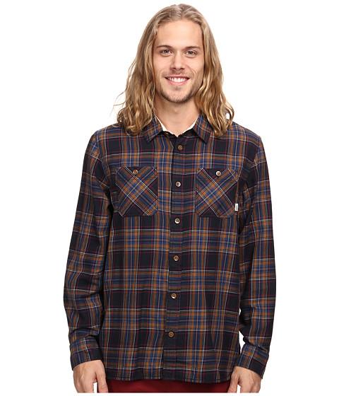 Vans - Birch L/S Woven (Black/Dark Denim) Men's Long Sleeve Button Up