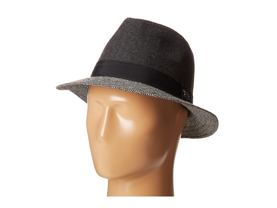 Vince Camuto - Menswear Fedora (Pebble Grey) Caps
