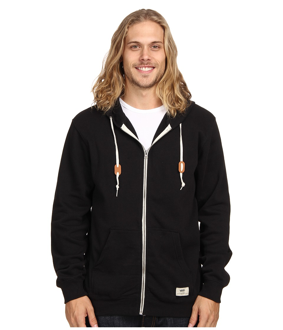 Vans - Core Basic Zip Hoodie III (Black) Men's Sweatshirt